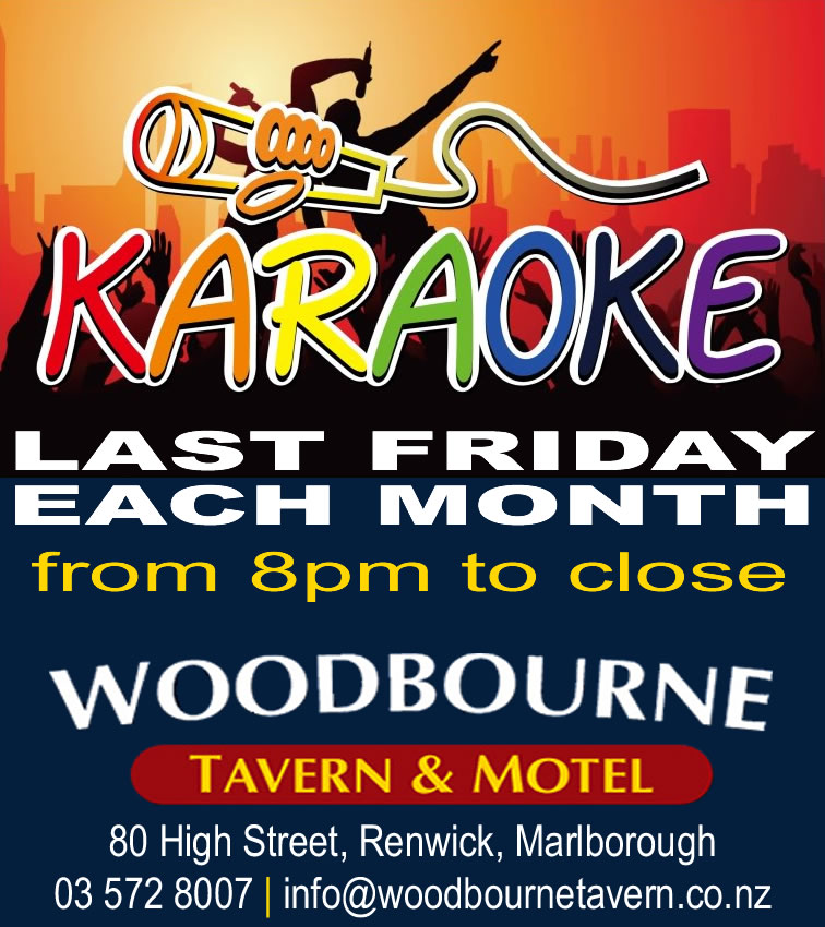 Karaoke Friday at the Woody - JULY 2015 by Woodbourne Tavern and Motels in Renwick Marlborough