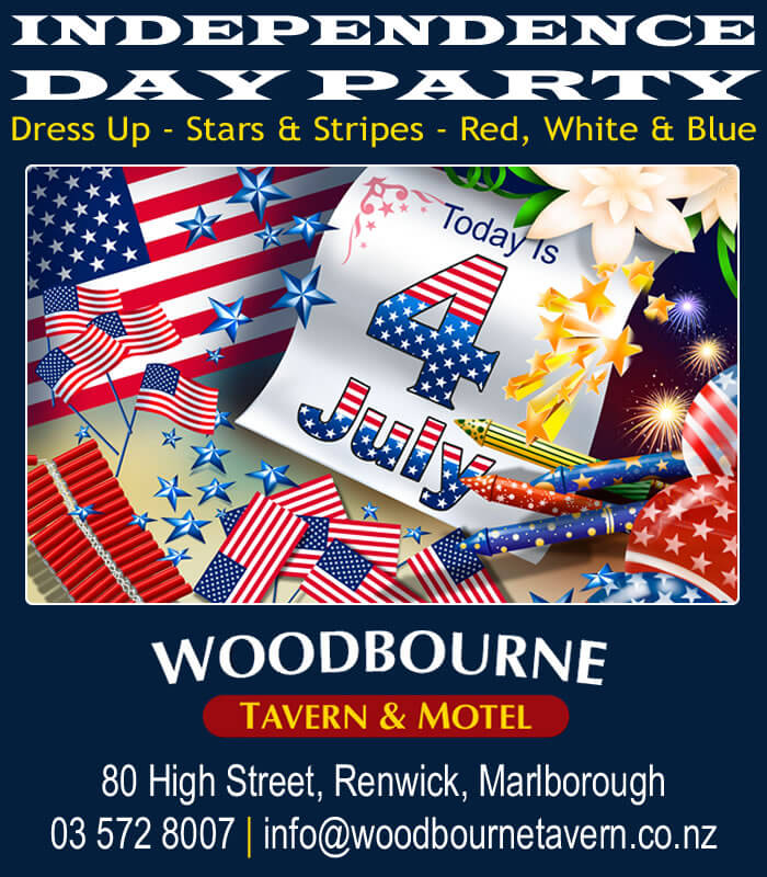 Independence Day Party 2015 at the Woody by Woodbourne Tavern and Motels in Renwick Marlborough